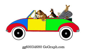 The-Family-Cat - Dogs And Cats Driving In A Car