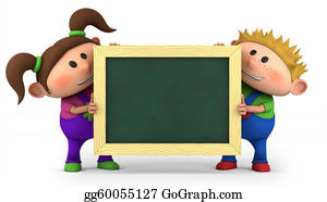 First-Day-Of-School - Kids With Chalkboard