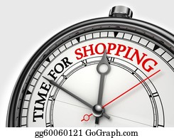 Time-For-Shopping - Time For Shopping Concept Clock