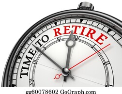 Retirement - Time To Retire Concept Clock