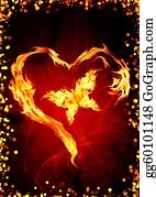 Flaming-Heart - Burning Heart