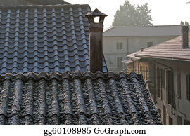 Freezing-Cold - Asbestos Roof Top Chimney