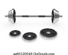 Dumb - Weight Barbell Disposed Horizontally