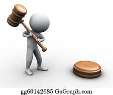 Judge-Gavel - 3d Man With Gavel