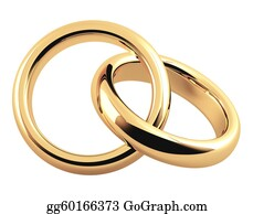 Ring-A-Ring - Two 3d Gold Wedding Ring