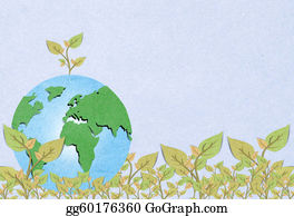 Plant-Life-Cycle - Environmental Concept. Tree Forming The World Globe