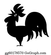 Spurs - Silhouette Cock On White Background