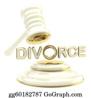 Judge-Gavel - Divorce Under The Judge Gavel Isolated