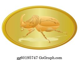 Rhinoceros-Beetle - Golden Beetle