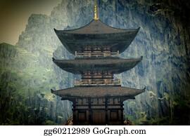 Buddhist - Zen Buddhist Temple In The Mountains