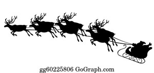 Reindeer-Christmas-Silhouettes - Santa