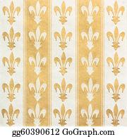 Fleur-De-Lys - Royal Lily (fleur-De-Lis) Pattern Green And Yellow Vintage Background
