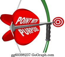 Bullseye - Point With Purpose- Bow Arrow And Target Success Winning
