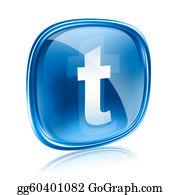 Bird-Feeder - Twitter Icon Glass Blue, Isolated On White Background