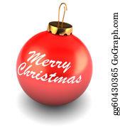 Merry-Christmas-Text - Xmas Ball