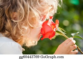 Sense-Of-Smell - Child With Flower