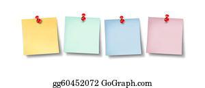 Tack - Blank Office Sticky Notes Design