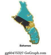 Badge - Bahamas Metal Pin Badge