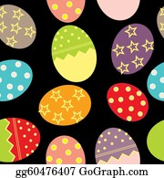 Pasqua - Vector Easter Seamless Pattern With Eggs Background