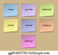 Weekday - Weekday Notes In Spanish