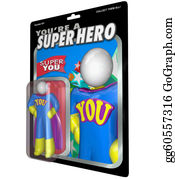 Appreciation - You Are A Super Hero Action Figure Praise Recognition