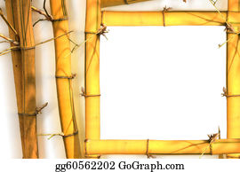 A-Palm-Tree-Sign-In-Yellow-And-Black - Bamboo Frame