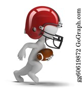 Football-Abstract - 3d Small People - American Football