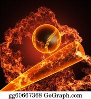 Baseball - Baseball In Fire