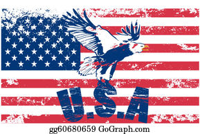 Military-Eagle-Emblem - Us Flag With Eagle