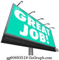 Appreciation - Great Job Billboard Words Appreciation Praise Compliments