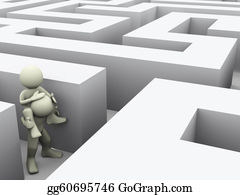 Forward - 3d People In Maze
