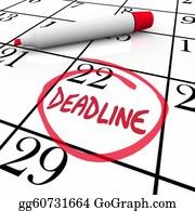 Due - Deadline Word Circled On Calendar Due Date