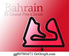 Formula-1-Racing-Car - Bahrain F1 Formula 1 Racing Circuit Map