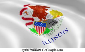 Prairie - Illinoisan Flag In The Wind