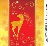 Reindeer-Christmas-Silhouettes - Vector Christmas Decor Deer