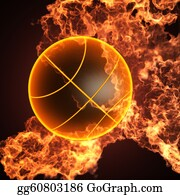 Basketball-Hoop - Basketball In Fire