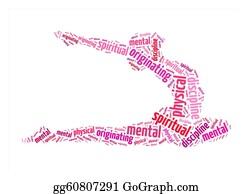 Meditative - Physical, Mental, Spiritual Discipline, Originating Text On Yoga  Graphic And Arrangement Concept