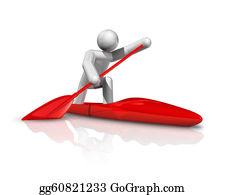 Canoe - Canoe Sprint 3d Symbol
