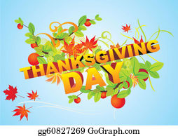 Dinner-Icons - Thanksgiving Day Text Vector