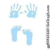 Baby-Footprint - Baby Boy Handprint - Footprint