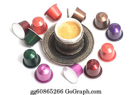 Sense-Of-Smell - Delicious Coffee Capsules Around Coffee Cup