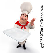 Butler - Chef Holding A Tray
