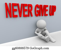 Positive - 3d Man - Never Give Up