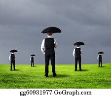 Umbrella - Businessman And Weather