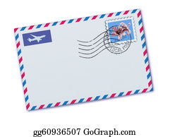 Air-Mail-Stamp - Airmail Envelope