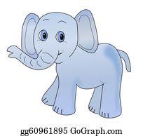 Blue-Elephant - Light Blue Infant Elephant