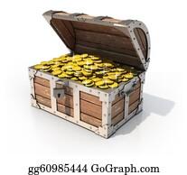 Treasure - Isolated Treasure Chest