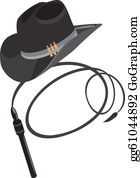 Whip - Cowboy Hat And Whip