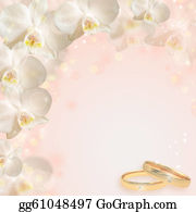 Orchid-Flower - Wedding Background With The Rings And Orchid