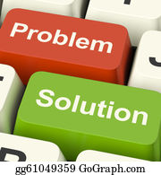 Positive - Problem And Solution Computer Keys Shows Assistance And Solving Online